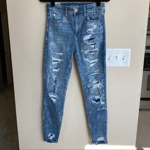 American Eagle high waisted ripped jegging (6)